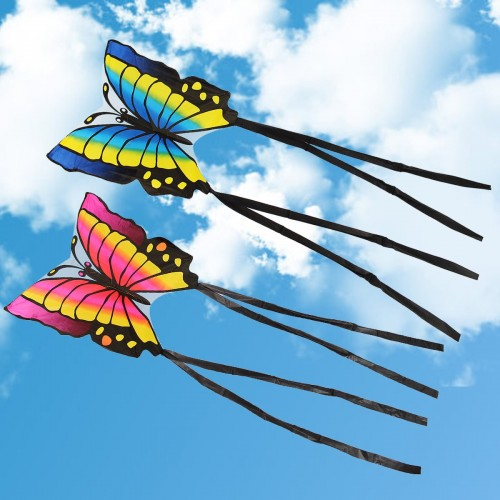 Children's Butterfly Kite Easy to Fly Single Line Kite Tail 1.5M Outdoor Funny Sports Toy
