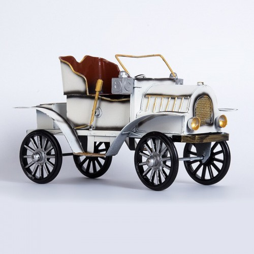 Classical Iron Classic Car Model Decor Ornament Retro Handmade Metal Car Figurine