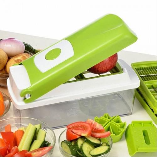 12pcs Set Nicer Dicer Plus Multi-function Kitchen Tool Vegetables Fruits Dicer Food Slicer Cutter