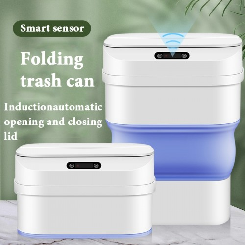 Creative Folding Induction Trash Can Multi functional Household Smart Portable Bathroom Accessories