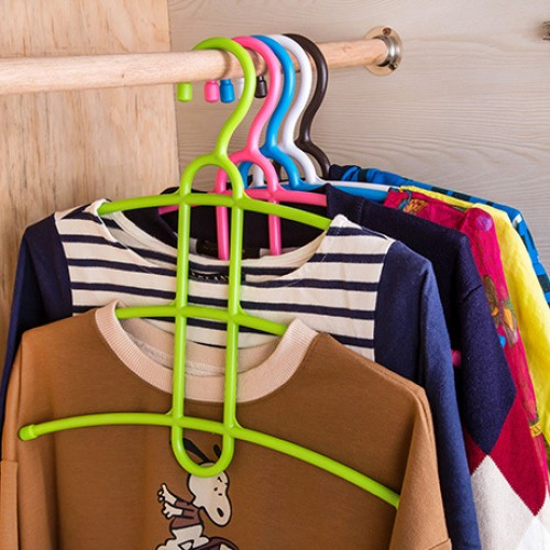 Creative Three Layer Anti-skid Plastic Racks of Fishbone Clothes Hanger Clothes Rack Multifunctional Wardrobe Clothes Hanger