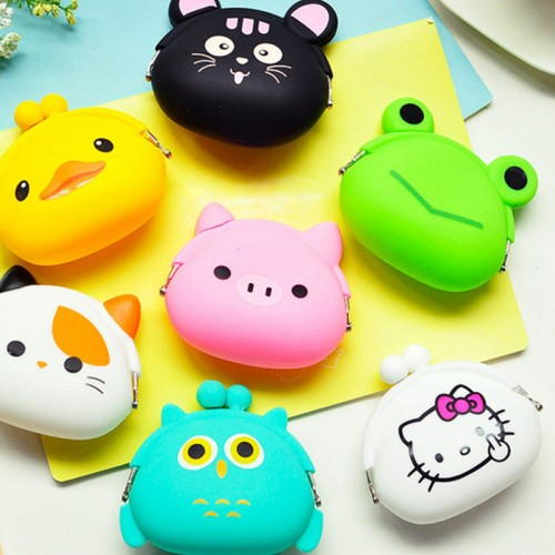 Coin Purse Lovely Cartoon Pouch Girls Small Wallet Soft Silicone Coin Bag Kid Gift