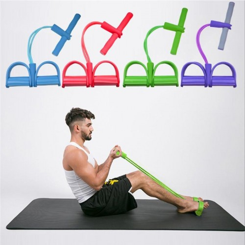 Durable Foot Pedal Pull Rope Delicate Design 2 Tube Resistance Band Pedal Exerciser