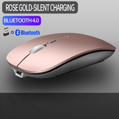1600 DPI USB Optical Wireless Bluetooth Computer Mouse 2.4G Receiver Super Slim Mouse For PC Laptop