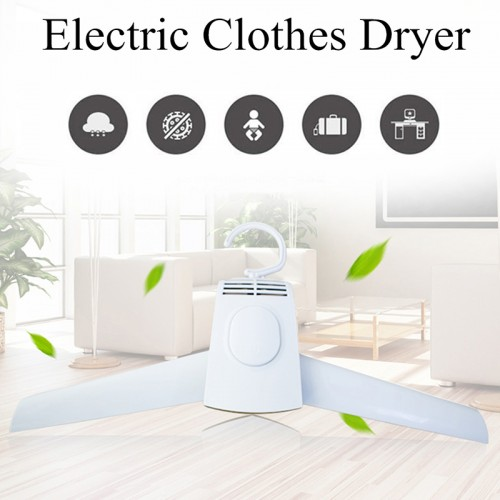 Electric Clothes Drying Rack Portable Smart Clothes Hanger Mini Foldable Heater Dryer
