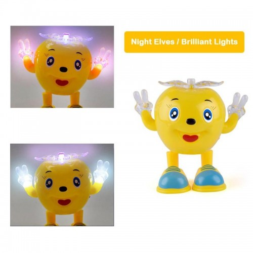 Electric Dancing Apple Battery Operated Baby Vocal Toys With Lighting Swing Toy