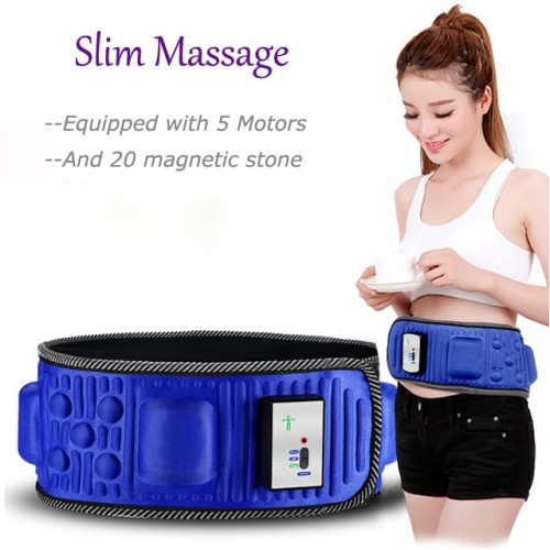 Electric Fitness Vibrating Massager Slimming Belt Fat Burning Weight Loss Body Wraps