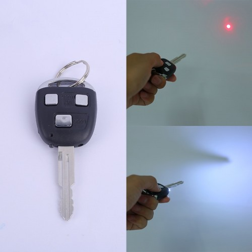 Electric Shock Car Key With LED Light & Laser Light Party Prank Trick Toys Gift