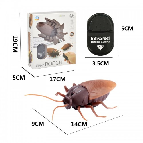 Electric Toy Infrared RC Remote Control Animal Toy For Kids Adults Smart Cockroach