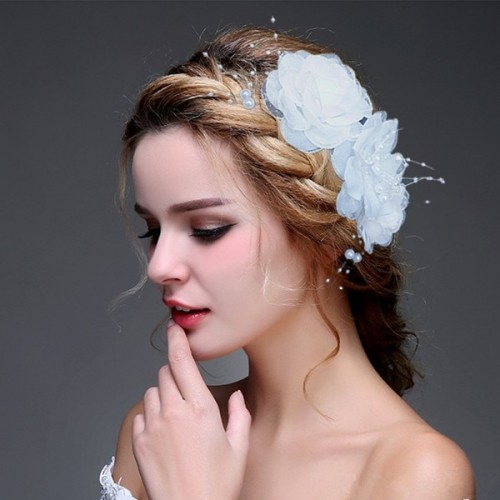 Wedding Hair Accessorie Floral Lace Flower Wedding Bridal Accessorie