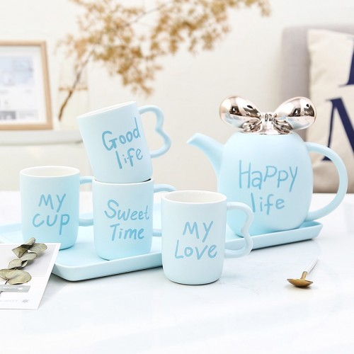 Europe Style Small Luxury Ceramic Coffee Cups Set Party Drinkware Home Decor