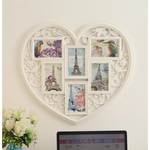 6-piece Creative Photo Frame Combination Family Photo Hanging Wall Frames Home Decoration