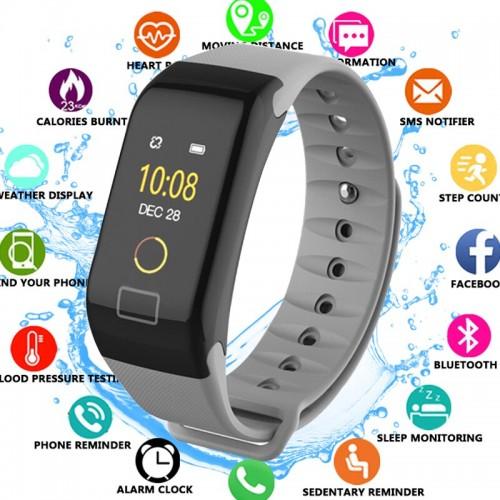 F1 Plus Smart Band Blood Pressure Monitor Waterproof Color Screen Sports Smart Bracelet