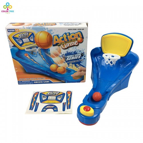 Family Amused Game Toy Sports Basketball Shot Game Child Play Fun Table Game