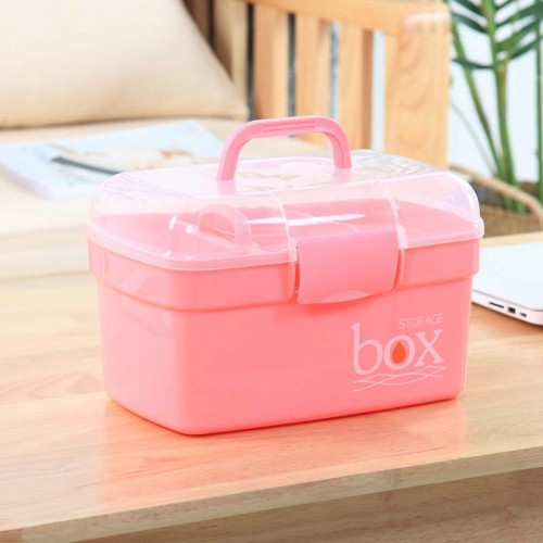 Family First Aid Kit Household Medical Storage Box Drawer Drug Gathering Organizer Case Medicine Box