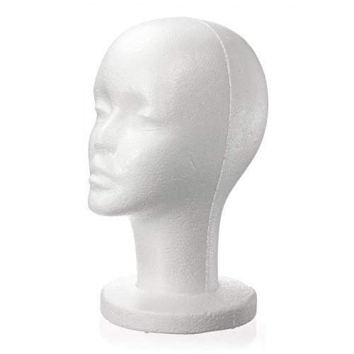 Fashion Female White Foam Styrofoam Mannequin Hat Cap Dummy Wig Head Display Holder Model