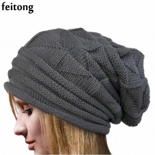Bonnet Women Crochet Knit Beanie