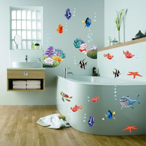 Find Nemo Dory Fish Wall Decoration For Kids Room Bathroom Decorative Stickers DIY