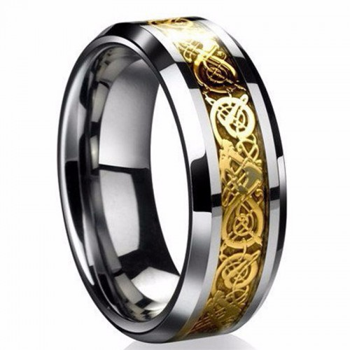 Fine Jewelry Stainless Steel Dragon Ring For Mens