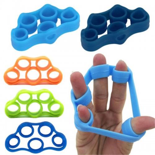 Finger Gripper Resistance Bands Finger Stretcher Silicone Hand Exerciser Grip Strength Wrist Trainer Fitness Equipment