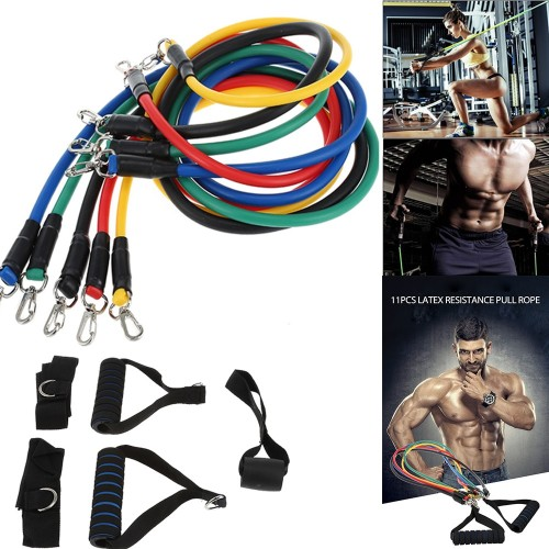 Pack of 5 Fitness Gum Equipment Workout Elastic Resistance Bands Training For Exercise Pull Rope