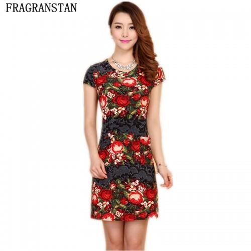 Floral Print Women Casual Dress