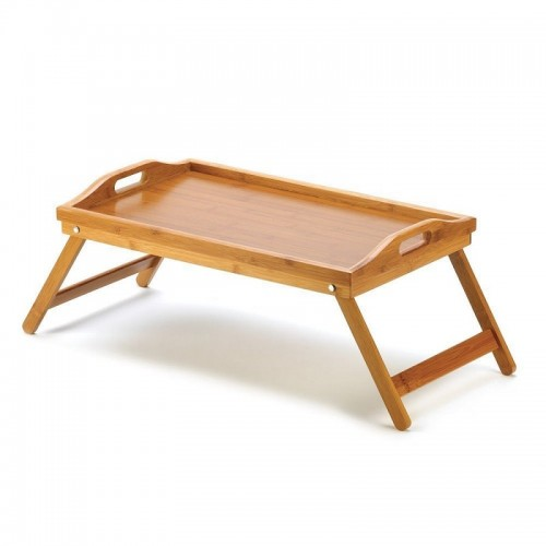 Foldable Bamboo Wood  Laptop Desk Simple Dining Table For Sofa Bed Picnic With Handle