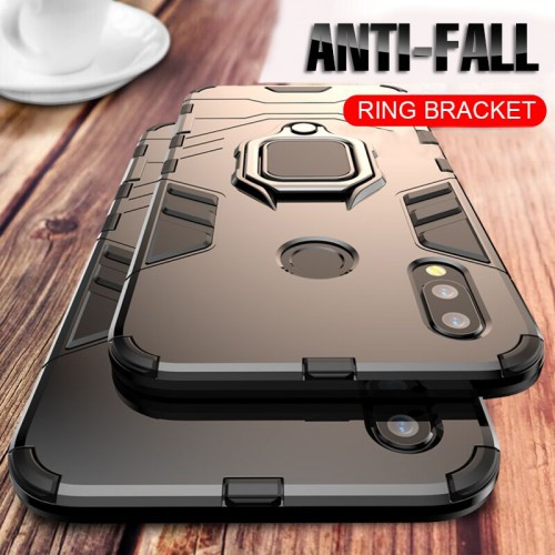 Luxury Armor Finger Ring Case Phone Cover For Huawei