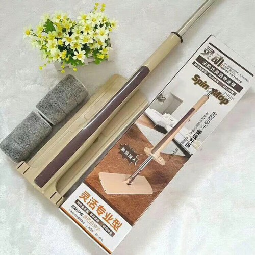 Washing Flat Mop Dry and Wet Dual Use Can Be Rotated Spray Cloth Home Self Squeezing Drag Lazy Mop