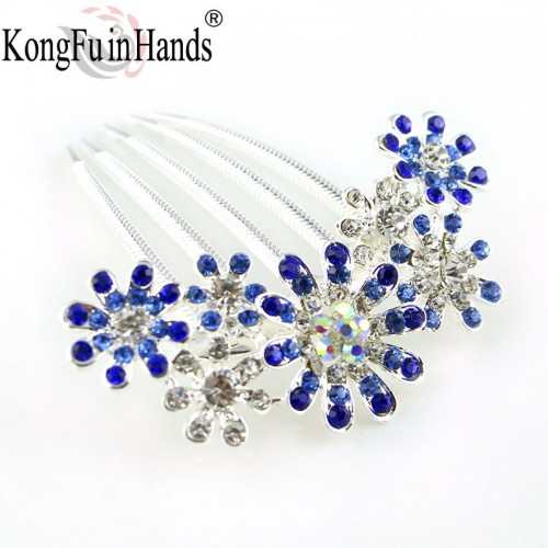 New Amazing Rhinestone Luxury Star Hair Combs Crystal Accessories Birthday Party