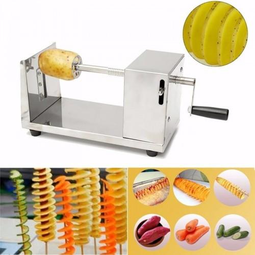 Stainless Steel Spiral Potato Cutter Potato Chips Making Machine