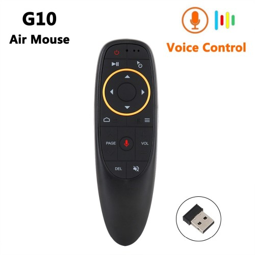 G10 Smart Voice Remote Control 2.4G RF Gyroscope Backlit Wireless Air Mouse