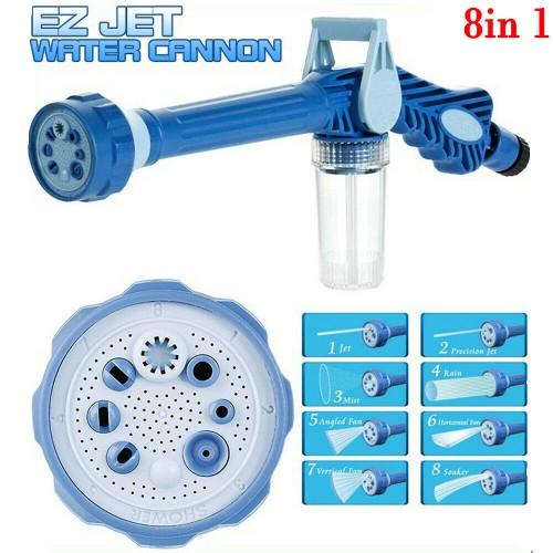 Garden Car Water And Soap Dispenser Cannon 8 Nozzle Multi Function Spray Gun
