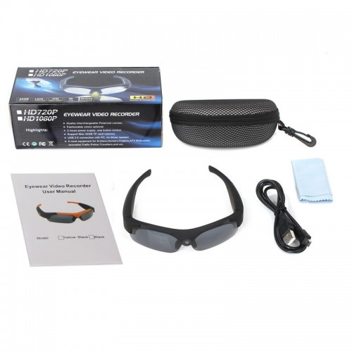HD 1080P Mini Camera Glasses Wide Angle 120 Degrees Mini DV Camcorder Video Smart Glasses