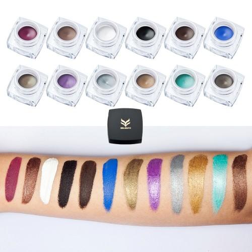 HUAMIANLI 12 Color Eyeliner Gel Shining Matte Eyeshadow Eyes Makeup Cream Waterproof Maquiagem Smooth 24H Lasting Cosmetic