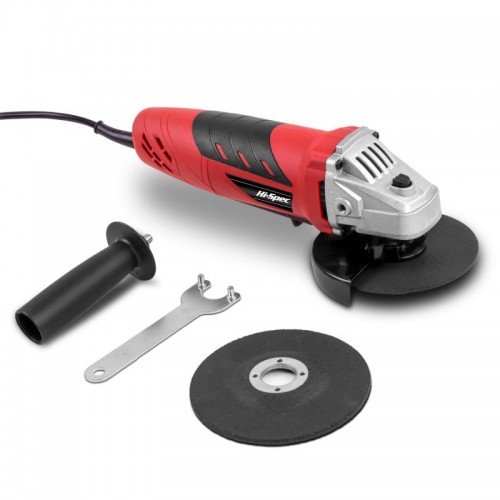 Hi-Spec 500W 5A Mini Electric Angle Grinder Tool With 2pc Saw Disc