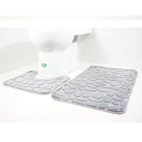 2pcs Non-Slip Suction Grip Bath Mat Bathroom Kitchen Carpet Doormat