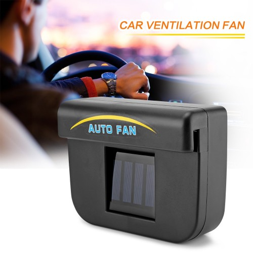 Car Auto Fan Air Black Solar Energy Vent Cooler Ventilation System Purify Air Radiator Car Window Cooling Fans