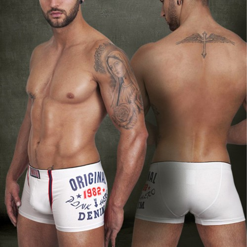 High Quality Middle waist Cotton Boxers Underwear Trunks Shorts for Men