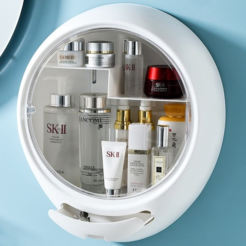 Wall-Mounted Makeup Organizer Box Cosmetics Jewelry Nail Polish Medicine Storage Rack Case