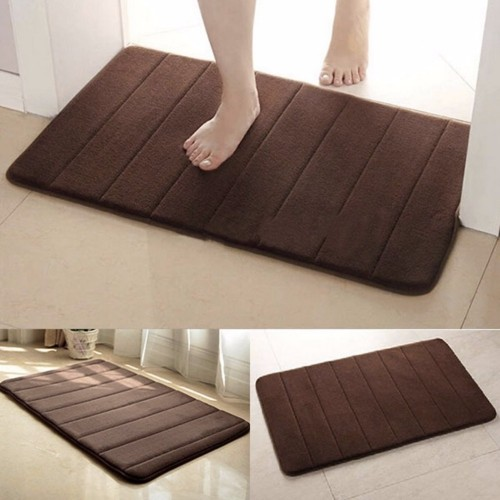 Anti Slip Mat Rug Bathroom Non-Slipping Mats Memory Foam Rug Shower Carpet Pad