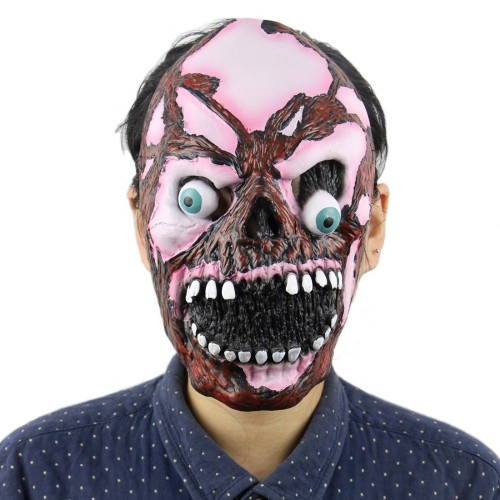 Horror Latex Critical Eyes Mask Super Spooky Mask Halloween zombie Scary mask  Full Head Face Creepy Scary Mask For Adults Props