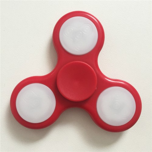 LED Light Hand Finger Spinner Fidget Plastic EDC For Autism and ADHD Relief Focus Anxiety Stress Toys