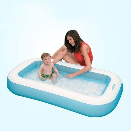Children's Inflatable Square Swimming Pool Rectangular Kids Paddling Play Pool