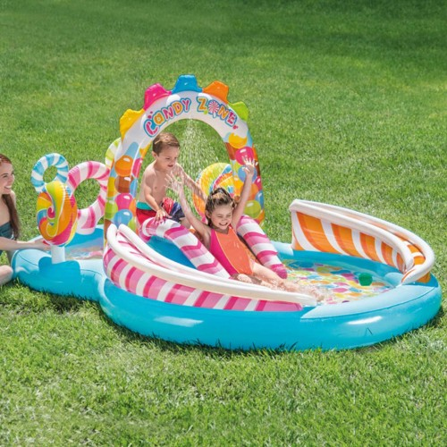 295X191X130cm Inflatable Pool Water Slide Fun Lawn Water Inflatable Swimming Pool Unique Children Paddling Pool