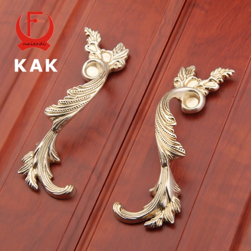 2Pcs 96MM Antique Brass Wardrobe Door Pulls Vintage Handles Knobs European Style Cabinet Knobs Kitchen Handle