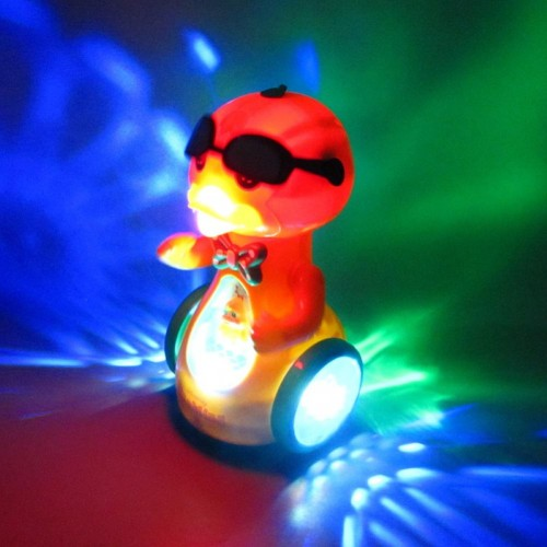 Kids Universal Spray Music Light Electric Sunglasses Duckling Robot Puzzle Toy