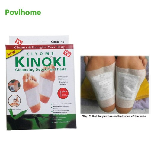 Kinoki Detox Foot Pads Patches Relaxation Massage Relief Stress Feet Care 10 Pads In Each Box