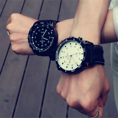 Korean Fashion Relogio Men Necessary Sport Large Dial Student Watch Neutral Silicone Watches Business Wristwatch New 2017