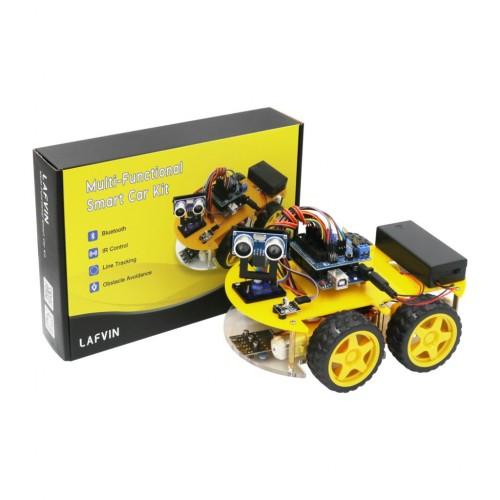 LAFVIN Multi-function 4WD Robot Car Ultrasonic Module Robot Car Assembly Kit